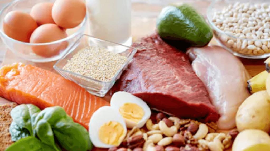 肉・魚・卵・大豆の画像